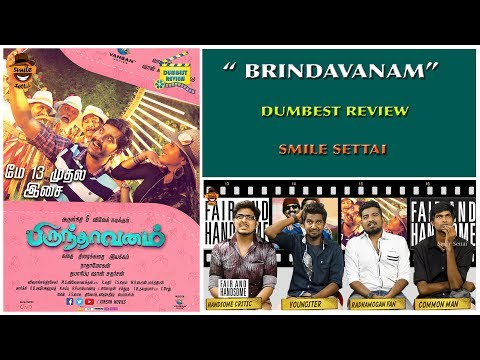 Brindavanam Movie Review | Arulnidhi, Vivek Dumbest Review | Smile Settai