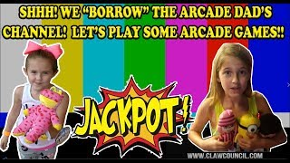 "We ""borrow"" The Arcade Dad channel with our own arcade game claw machine and jackpot video! TEAMCC"