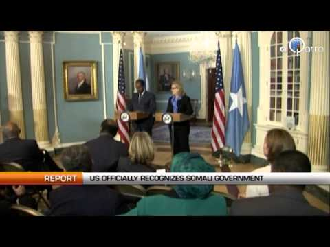 U.S officially recognizes Somali government