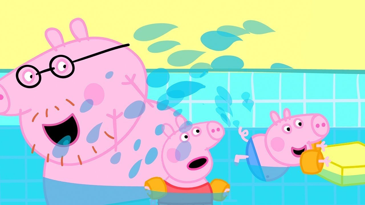 Schwimmen mit Peppa und ihrer Familie   Cartoons für Kinder   Peppa Wutz Neue Folgen
