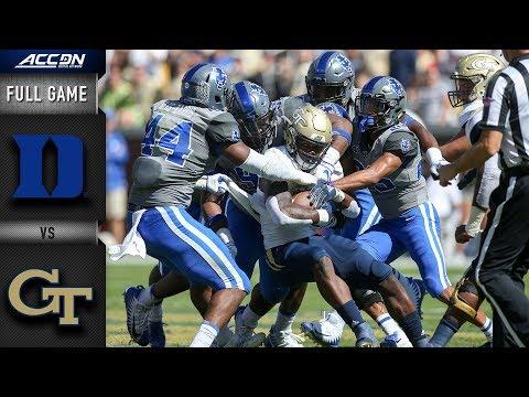 Duke vs. Georgia Tech Full Game  2018 ACC Football