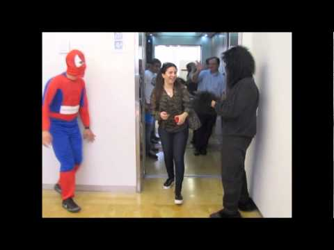 Spiderman and King Kong invade the American University of Beirut