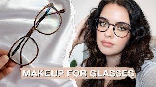 SIMPLE MAKEUP LOOK FOR GLASSES 🤓 | Julia Adams