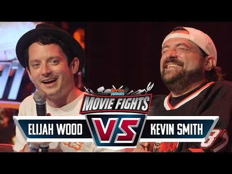Kevin Smith vs Elijah Wood!  CELEBRITY MOVIE FIGHTS LIVE!