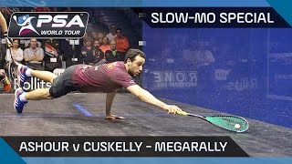 Squash : Slow-Mo Special - MegaRally Combo! Ashour v Cuskelly