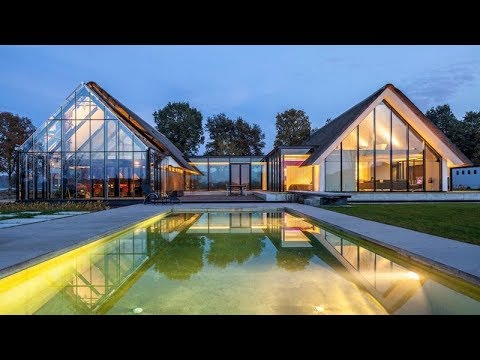 An H Shaped Home With A Greenhouse | Berlicum, the Netherlands | HD