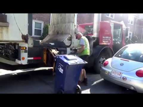 Capitol Waste Services - Brighton( Boston) Recycle  Collection Mack LE Labrie side loader