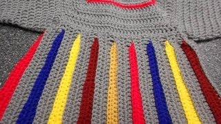 Repeat youtube video Sweter para niña Crochet parte 1 de 4