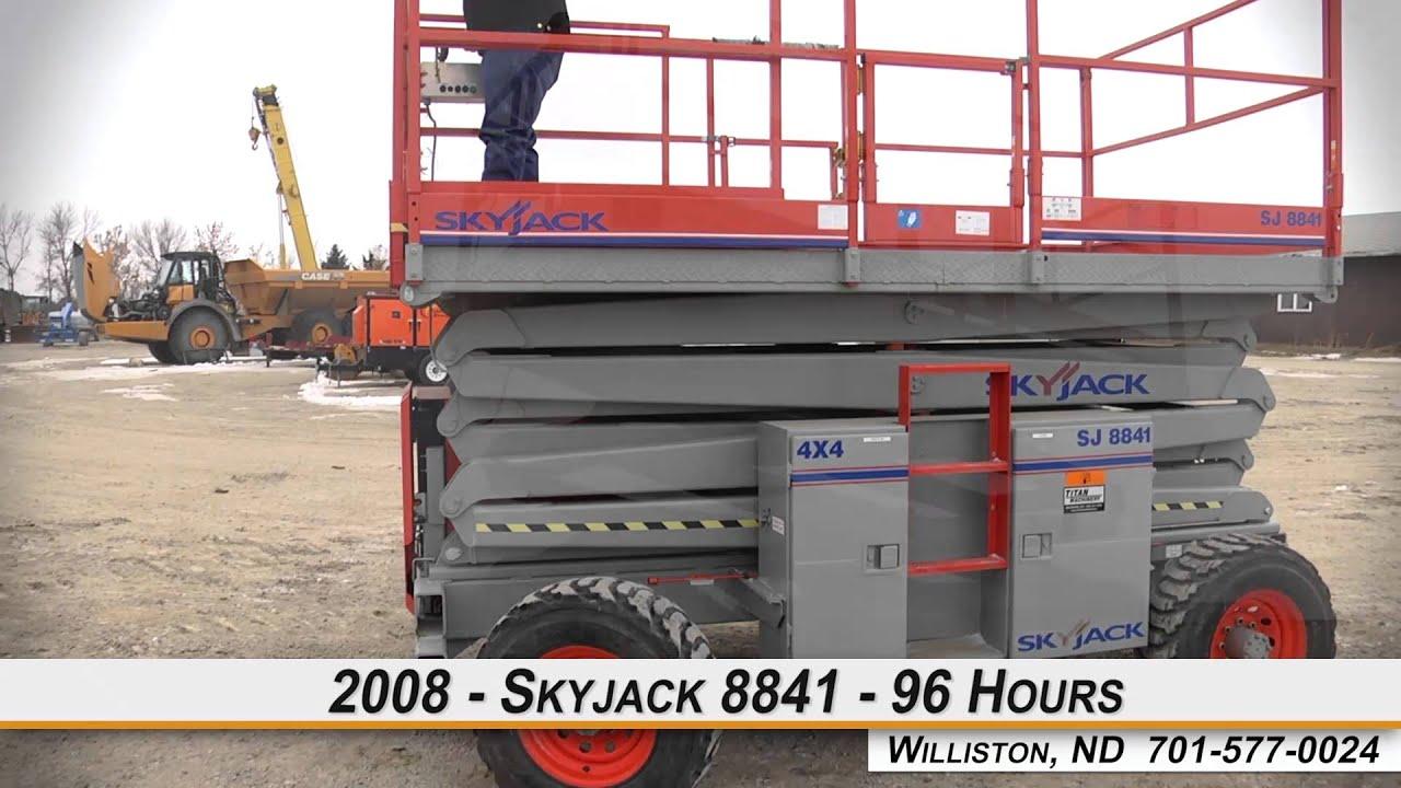 Skyjack 8841 Scissor Lift-Rough Terrain For Sale
