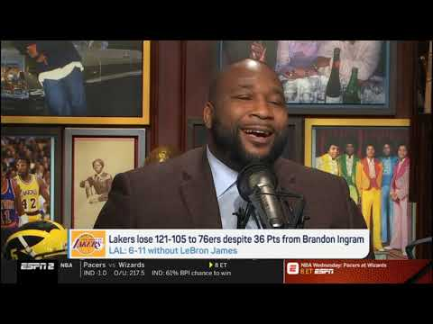 Jalen & Jacoby FURIOUS Lakers lose 121-105 to 76ers despite 36 Pts from Brandon Igram without LeBron
