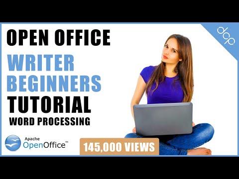 Open Office 4 Writer Beginners Tutorial | Word Processing Tutorial