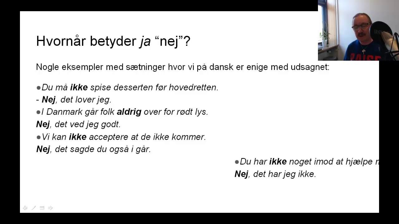 Ja eller nej på dansk
