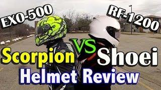 Shoei RF-1200 vs Scorpion EXO-500 - Is Shoei Helmet Worth It?