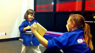 3-year-old Karate Student Breaks Real Six Inch Wood Board At Mile High Karate Sterling!