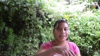 Josefina participante en el taller de procesamiento de alimentos, de Huehuetla, Puebla.