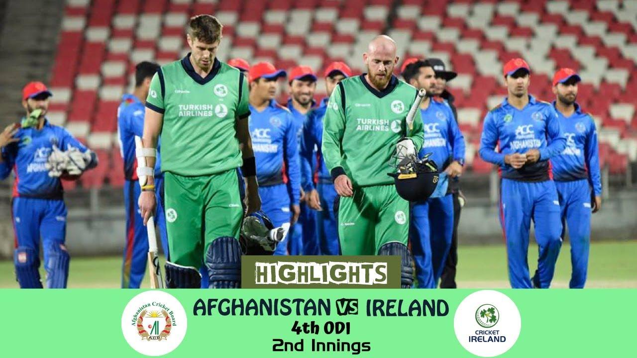 Ireland Vs Afghanistan: Highlights 2nd Innings Afghanistan Vs Ireland