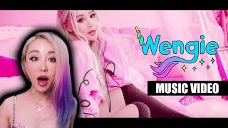 Wengie REACTS to her own music video CAKE