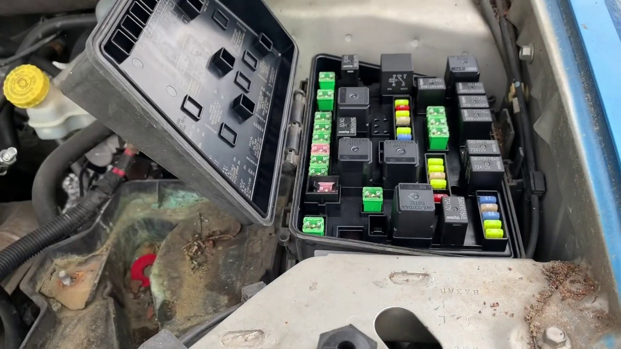 chrysler pacifica fuse box and relay location (2004-2008)