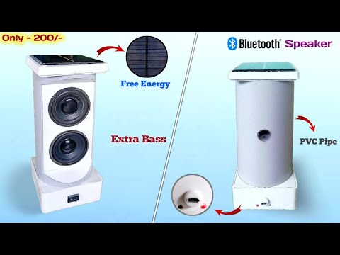 How to Make Bluetooth Speaker at From PVC Pipe | Diy Solar Bluetooth Speaker at Home