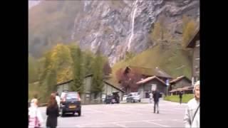 видео Долина 72 водопадов: Лаутербруннен (Швейцария)