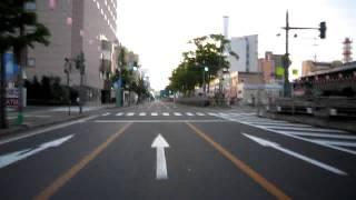 早朝の山王大通り~中央通り