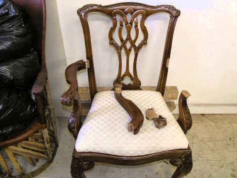 Restoration Antique Chair hand work finish , -Madadar- Naples FL