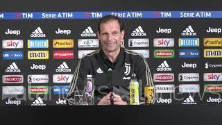 """Juve, Allegri: """"Vittoria con Frosinone darebbe spinta per la Champions"""""""
