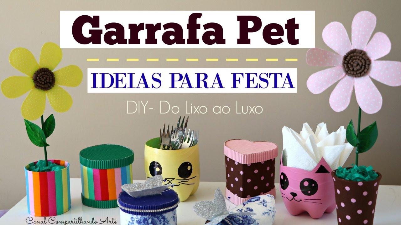 Adesivo De Espelho ~ Artesanato com Garrafa Pet 5 ideias para festa DIY Do lixo ao Luxo Compartilhando Arte