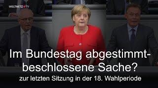 Im Bundestag abgestimmt: