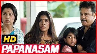 Repeat youtube video Papanasam | Police investigation Scene | Police enquiry Scene | Kamal Haasan | Goutami