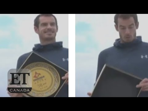 Andy Murray Drops Commemorative Plate