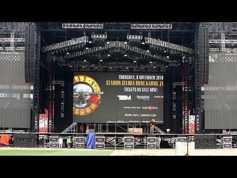 Begini Persiapan Panggung Konser Guns N' Roses Mp3
