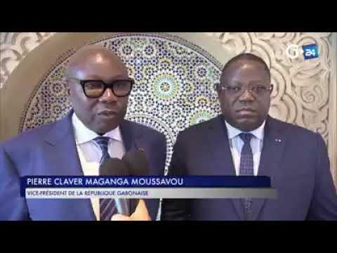 Ali Bongo Au Maroc avec ses Ministres et vivant !