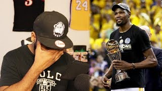 Kevin durant's 1st nba championship with golden state warriors reaction