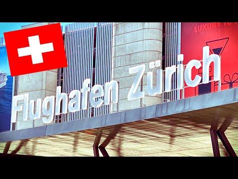 Карантин в Швейцарии - Пустой Аэропорт в Цюрихе