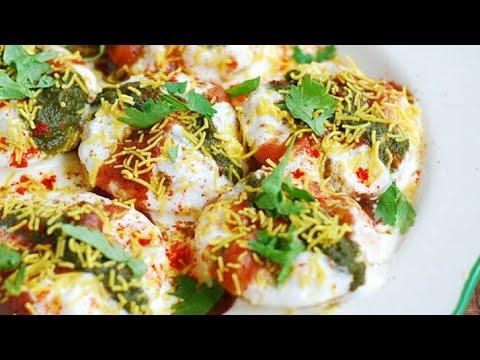 Dahi Batata Puri, how to make dahi batata puri, cooking without fire