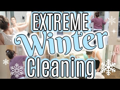 ❄WINTER❄ ALL DAY CLEAN WITH ME 2019 | EXTREME CLEANING MOTIVATION | SAHM