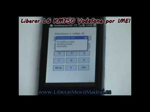 Liberar LG KM750 Vodafone por IMEI.avi