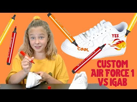 Custom Air Force 1 Challenge vs iGab !