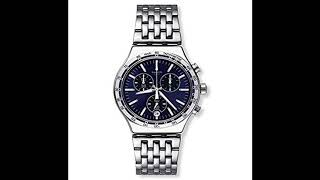 Swatch Men's Dress My Wrist YVS445G Silver Stainless Steel Swiss Quartz Fashion Watch