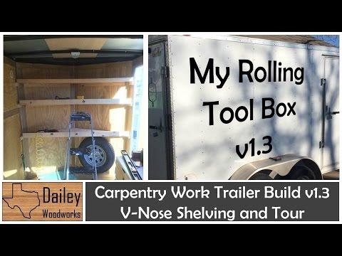 Carpentry Work Trailer Build 13 V Nose Shelving Unit and