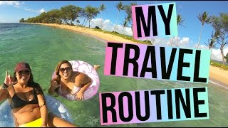 MY TRAVEL ROUTINE | Get Ready, Pack With Me + More!