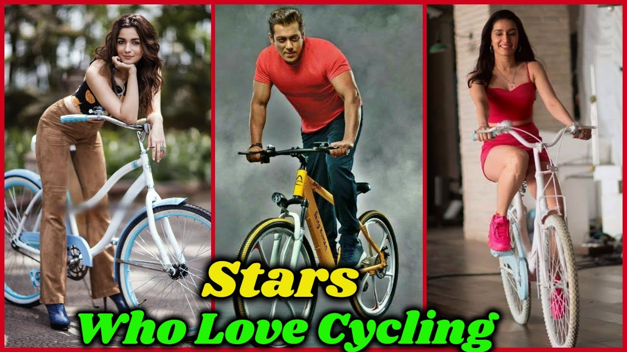 Download Bollywood Stars Who Love Cycling in Public