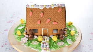 How to Make an Easy Easter Gingerbread House with Kids