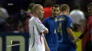 Fussball WM - Skandale [10] Zidane vs Materazzi 2006