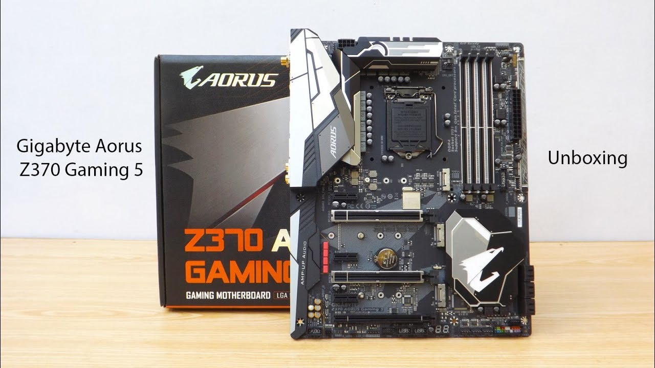Gigabyte Aorus Z370 Gaming 5 Motherboard Unboxing