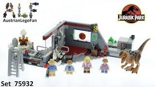 Lego Jurassic World 75932 Jurassic Park Velociraptor Chase - Lego Speed Build Review