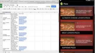 How to Build An Android app with a Google Docs Spreadsheet Feed