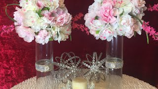 Tall Floral Centerpieces| Elegance On A Budget