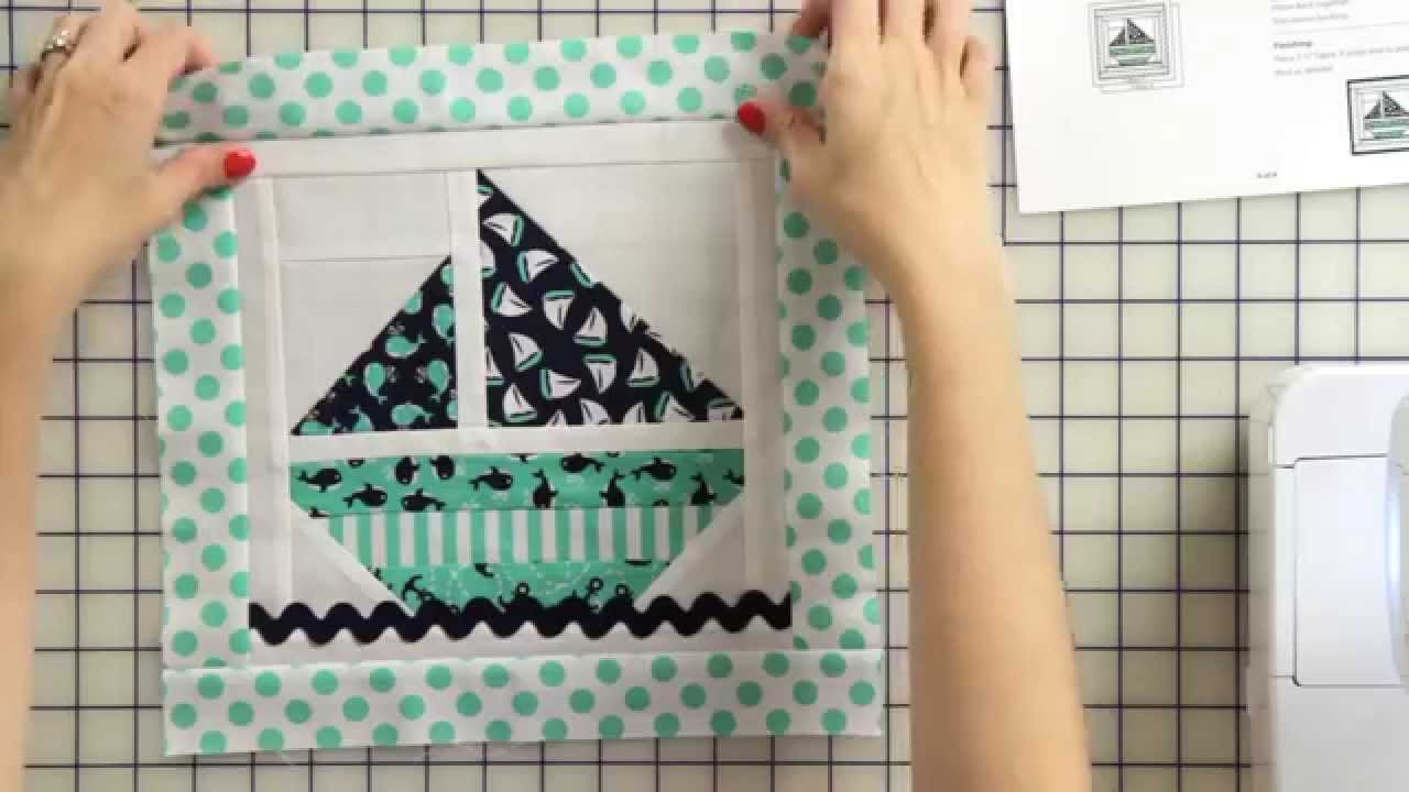 How to make a sail boat tooth fairy pillow starting with a quilt